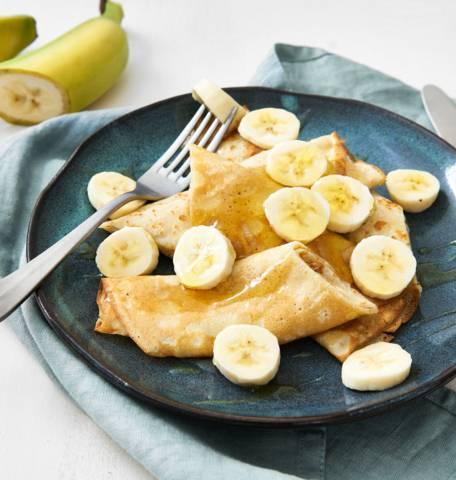 Crêpes de sportif à la banane et au miel