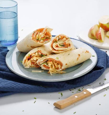 Wrap au saumon et à la pomme