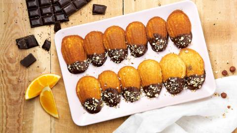 Madeleines à l'orange et au chocolat