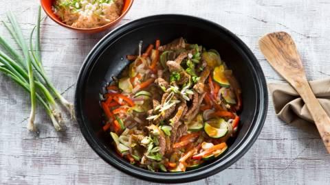 Contre-filet au wok