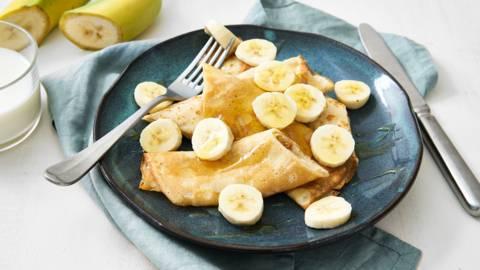 Crêpes énergétiques à la banane et au miel