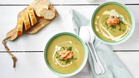 Soupe concombre-poireaux
