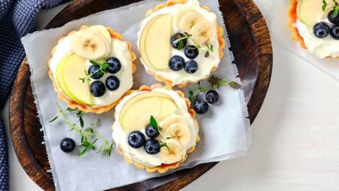 Mini tartelettes aux fruits et fromage blanc