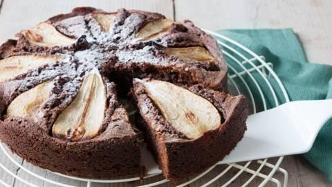 Gâteau au chocolat et poires Conférence