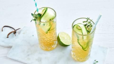 Cocktail sans alcool au concombre
