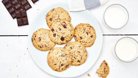 Chocolate chip cookies aux cornflakes