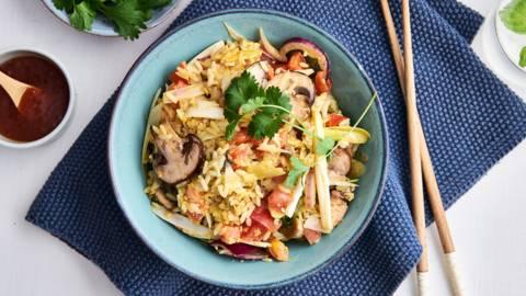 Wok de riz épicé