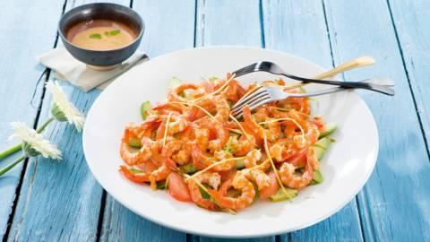 La plus délicieuse des salades de crevettes