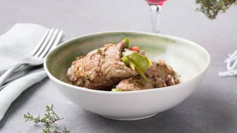 Roulades de steak, sauce aigre-douce