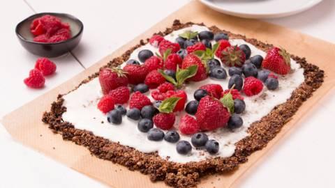 Gâteau au muesli et fruits d'été