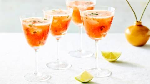 Margarita fraise-champagne