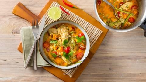 Curry épicé à l'émincé de dinde
