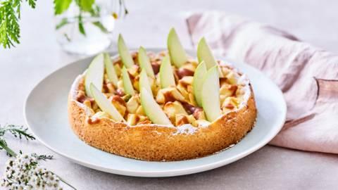 Tarte aux pommes au caramel salé et à la pomme acidulée
