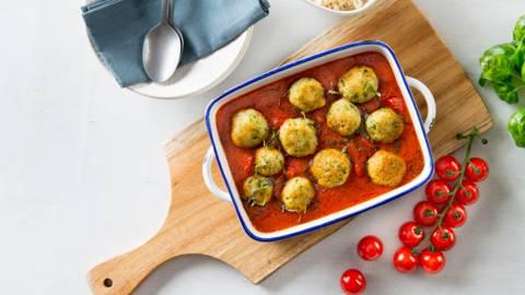 Boulettes de poisson à la sauce tomate