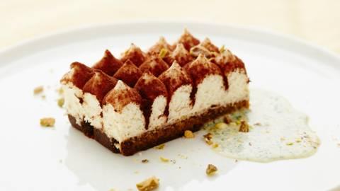Tiramisu au chocolat blanc-crème de pistache