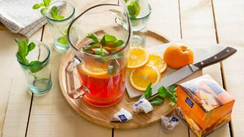 "Ice tea ""sport"" à l'orange et au gingembre"