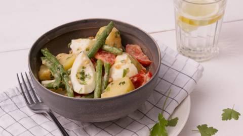 Salade de pommes de terre et haricots