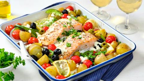 Gratin grec au saumon