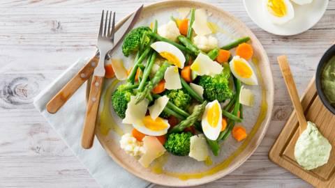 Salade de légumes vapeur