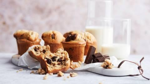 Muffins au chocolat et beurre de cacahuète