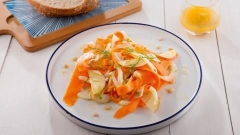 Salade fraîche de carottes et de fenouil