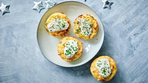 Tartelettes chou-fleur & poireau