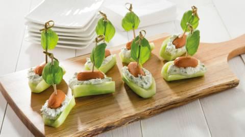 Petits bateaux de concombre