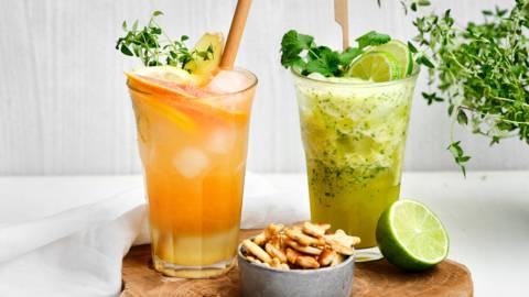 Mocktails d'agrumes et d'ananas