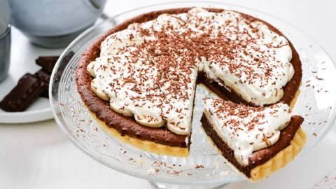 Gâteau banane-chocolat à la crème fraîche