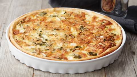 Quiche au chicon, courgette et emmental