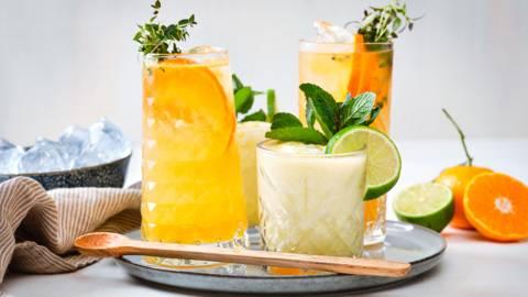 Mocktail ananas-coco - Mocktail mandarine-thym