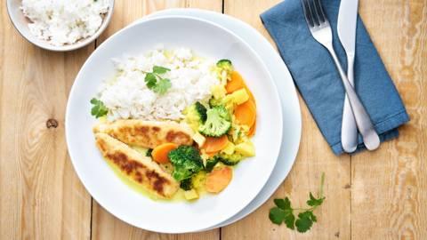 Poulet curry crispy