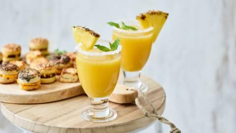 Mocktail pétillant ananas-citron vert