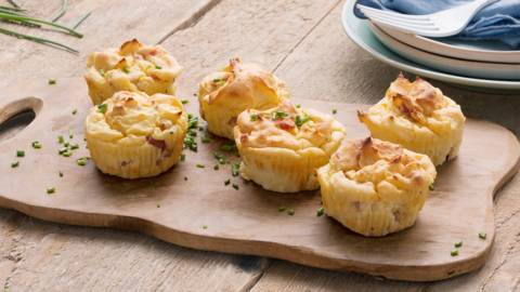 Muffins de pomme de terre au jambon