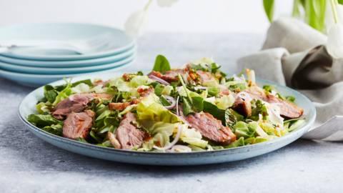 Salade verte au canard