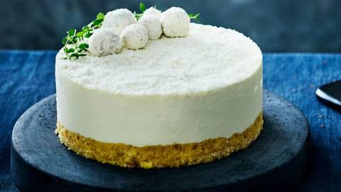 Gâteau au chocolat blanc sans cuisson