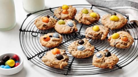 Biscuits au chocolat multicolores
