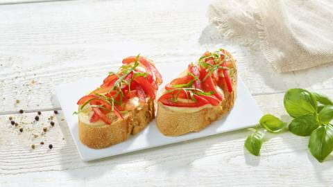 Ciabatta à la mozzarella de bufflonne et tomates
