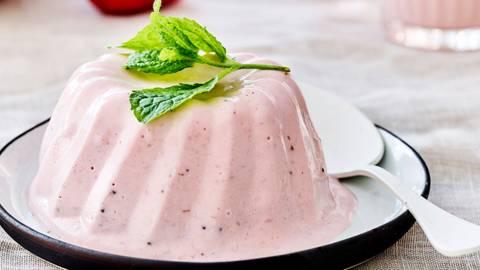 Dessert-petit déjeuner au yaourt
