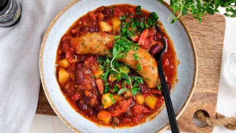 Ragoût aux saucisses, haricots et pommes de terre