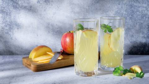 Mocktail pomme-gingembre