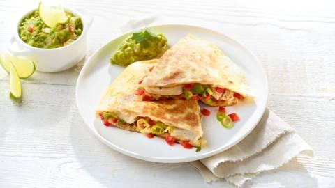 Quesadillas au guacamole maison