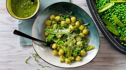 Gnocchis au pesto et aux légumes