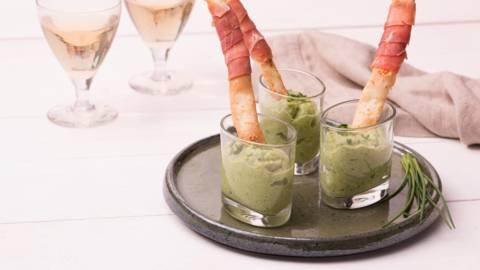 Mousse de brocoli et gressins