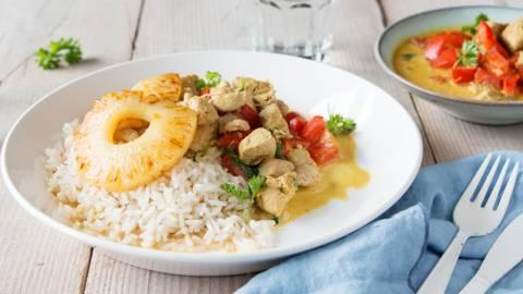 Faisan au curry et ananas