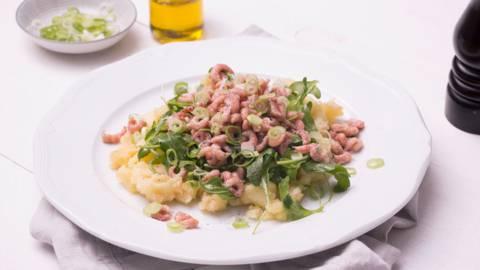 Ecrasé de pommes de terre aux crevettes grises