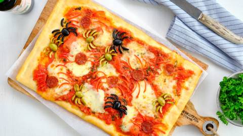 Pizzas de l'horreur pour Halloween