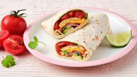 Burrito et œufs au lard