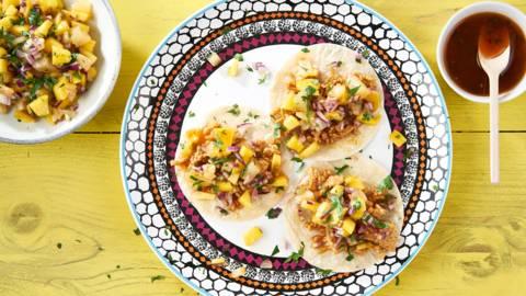 Tacos des Caraïbes au poulet
