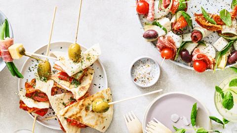 Fromage de chèvre au cœur d'artichaut et aux olives